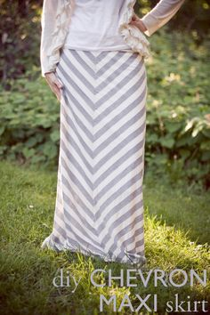 #DIY Chevron Maxi Skirt; other patterns/tutorials on this blog as well.