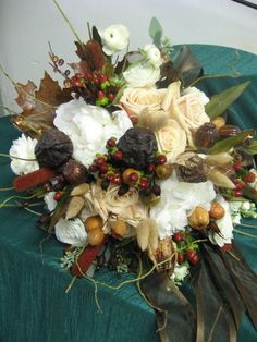 Check out this beautiful fall bouquet by our inhouse floral designer! See more at facebook.com/flowersbythewestwood  #fall #wedding #bouquet #flowers