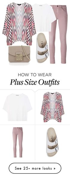"""Untitled #188"" by pinkpotatos on Polyvore featuring Diesel, Vince, navabi, Furla and Birkenstock"