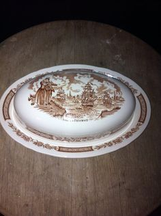 Fair Winds butter dish by Alfred Meakin on Etsy, $24.95