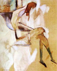 Apropos of Little Sister by Marcel Duchamp, Guggenheim Museum Size: cm Medium: Oil on canvas Solomon R. Guggenheim Museum, New York © 2016 Artists Rights Society (ARS), New York/ADAGP,. Action Painting, Musée Guggenheim Bilbao, Oil Canvas, Avantgarde, Plastic Art, Henri Matisse, Conceptual Art, Famous Artists, Modern Art