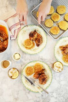 The Bakehouse Brunch: Butter Roasted Chicken + Fresh Corn Johnny Cakes