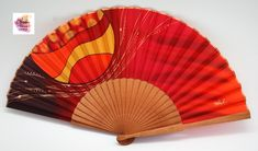 I have been painting natural silk fans since 1983 and I really enjoy this work, which is reflected in it's quality Textiles, Hand Fan, Natural, Fans, Hand Painted, Crafts, Wedding, Painting, Textile Jewelry