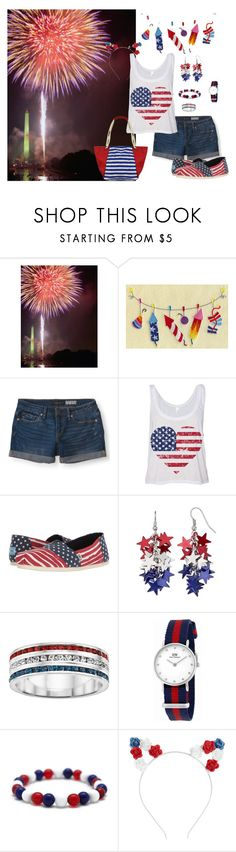 """""""4th of July"""" by jbillington ❤ liked on Polyvore featuring Aéropostale, TOMS, Daniel Wellington, fourthofjuly, redwhiteblue, fourth and HolidayParty"""