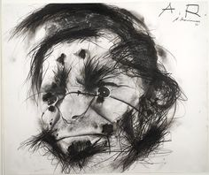 "Arnulf Rainer, ""Bündle im Gesicht (Bundle in Face)"" (1974) 