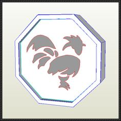 Jackie Chan Adventures - Rooster Talisman Free Papercraft Download - http://www.papercraftsquare.com/jackie-chan-adventures-rooster-talisman-free-papercraft-download.html
