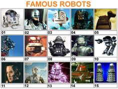 telivision robots | Robots (Famous Robots From Films, TV And Elsewhere)