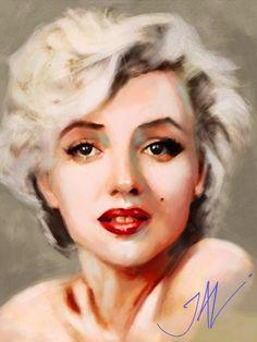 Marilyn by JALpix on DeviantArt Marilyn Monroe Drawing, Marilyn Monroe Artwork, Marilyn Monroe Life, Great Works Of Art, Illustration Art, Illustrations, Arte Pop, Norma Jeane, Art Drawings Sketches
