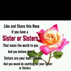 my best friends are my sisters qoutes | love my sister, she is also my best friend! @Courtney Baker esper