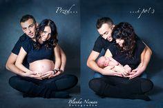 Fotografia ciążowa przed i po, before nad after, Blanka Nicman