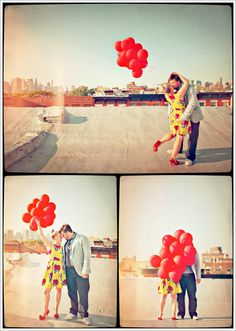 Super cute balloons and great vintage film look.