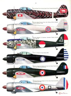 Ki-43 colours schemes of different countries
