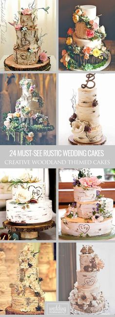 Rustic Wedding 24 Must-See Rustic Woodland Themed Wedding Cakes ❤ Woodland themed wedding cakes are an absolutely creative and unique thing because most of them have unforgettable design and will impress your guests. See more: http://www.weddingforward.com/woodland-themed-wedding-cakes/ #wedding #cakes #rustic