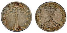 1 SILVER REAL/PLATA. CHILE INDEPENDIENTE. 1834 IJ. SANTIAGO. VF/MBC. INTERESANTE