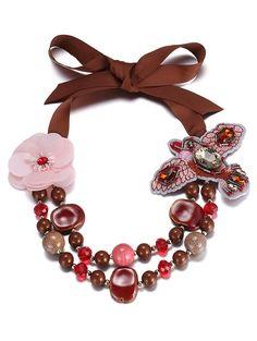 Bird Flower Beading Necklace #jewelry, #women, #men, #hats, #watches, #belts, #fashion