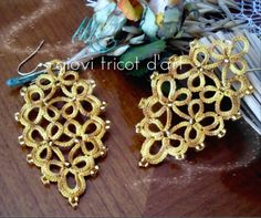 #tatting #earrings #handmade