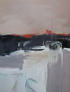 "Joan Fullerton Paintings: Contemporary Abstract Painting ""Journey"" by Intuit..."