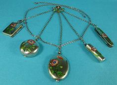 Antique Enamel Chatelaine