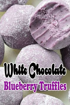 White Chocolate Blueberry Truffles make the perfect confection for Halloween get-togethers White Chocolate Truffles, Salted Caramel Chocolate, Homemade Chocolate, Chocolates, Macarons, Truffle Shuffle, Strawberry Shortcake Party, Cake Truffles, Recipes
