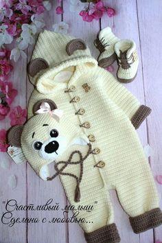 Baby romper set Newborn boy romper overalls Outfit beige overall Baby diaper cov. - Baby romper set Newborn boy romper overalls Outfit beige overall Baby diaper cover Baby home outfit - Newborn Crochet Patterns, Baby Patterns, Crochet Ideas, Free Crochet, Crochet Baby Clothes, Crochet Shoes, Crochet Romper, Baby Outfits, Baby Boy Overalls