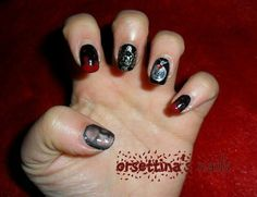 The vampire diaries nails nails pinterest the vampire image via the vampire diaries nail art ideas image via dark red sparkle nails im not really big on red but these are cute the vampire diaries nail art prinsesfo Gallery