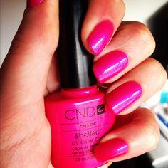 CND Shellac in Tutti Frutti. Perfect summer toes.