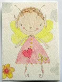 Original Watercolour Fairy ACEO