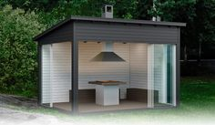Gazebo, Pergola, Outdoor Office, Outside Living, Terrace Garden, Old Houses, Shed, Home And Garden, Cottage