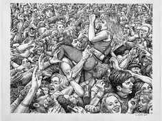 Robert Crumb  at a rock concert