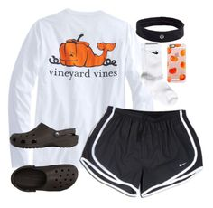 """""""Happy Halloween."""" by keileeen ❤ liked on Polyvore featuring NIKE, Crocs, lululemon and Casetify"""