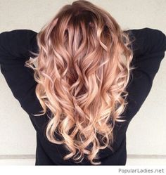 Amazing strawberry blonde ombre hair color