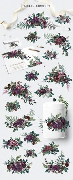 Into the Wild is an collection inspired by nature, with gorgeous flowers and the beauty of pine woodland. Let's every Wild Alphabet bring you to another forest Into The Wild, Watercolor Illustration, Graphic Illustration, Watercolor Wolf, Floral Illustrations, Floral Bouquets, Floral Wreath, Paper Logo, Websites Like Etsy