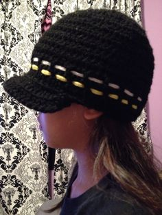 21cb9a7fd07 Newsboy cap in Boston Bruins logo colors for sister s son. Next in queue