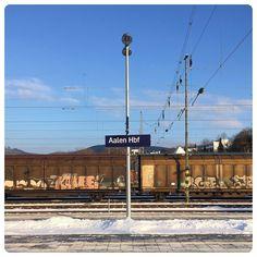 und hier umsteigen.  #Aalen #Bahnhof