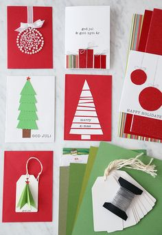 """Trendenser: Crafting personalized Christmas cards - """"In cooperation with ICA , I have developed a whole lot of inspirational images that show how to use their hobby assortment to create your own personalized Christmas cards and more."""""""