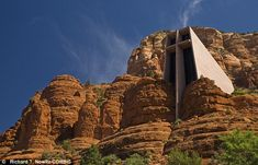 Commanding: The Chapel of the Holy Cross makes an impressive sight among the rock-face of Sedona, Arizona