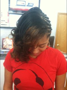 Creative styles with curls