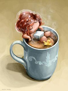 macus romero I love coffee www.macusromero.es http://meicas.blogspot.com.es/ #illustration #ilustracion