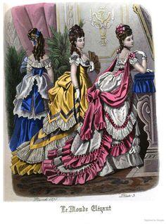 Le Monde Elégant 1875 March