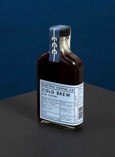 refined, classic cold brew #coffeelabel with creative application! We love it. Create your own version at YourLabelsNow.com