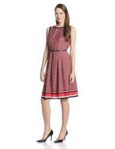 Jones New York Women's Sleeveless Pleated Boat Neck Dress, Scarlet Multi, 14 Jones New York,http://www.amazon.com/dp/B00H7W4JVU/ref=cm_sw_r_pi_dp_fDhotb0F4MX1HAE7