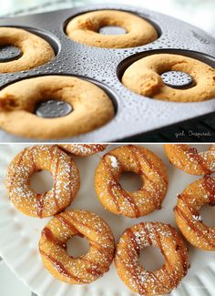 To celebrate the arrival of our Ricardo Non Stick Donut Pan, we're sharing 15 of the most delicious donut recipes! Donut Recipes, Cooking Recipes, Cream Puff Recipe, Beignets, Delicious Donuts, Baked Donuts, No Bake Desserts, Dessert Table, Sweet Recipes