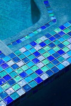 Green Gl Tiles Lightstreams Pool Tile Multicolor Blue