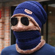 37441a3c349791 Peekymoce Beanie Knitted Winter Hat Female Scarf Beanies Hats Caps Skullies  Bonnet Femme For Men Women Beanie Casual Neck Warmer