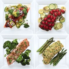 Rezepte One-Pan Salmon 4 Ways healthy dinner recipes onepan Rezepte Salmon Ways Fish Recipes, Seafood Recipes, Dinner Recipes, Cooking Recipes, Healthy Recipes, Healthy Meals, Beef Recipes, Chicken Recipes, Healthy Food