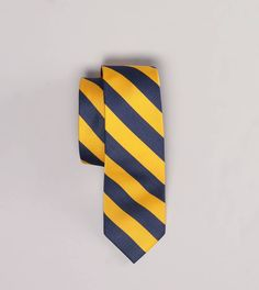 AE Striped Tie - Yellow