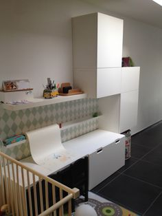 ikea Play Corner, Kids Corner, Ikea Kids Room, Kids Bedroom, Ikea Stuva, Kids Room Design, Baby Boy Rooms, Kid Spaces, Kid Beds