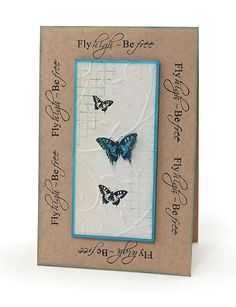 MT458d Happy Butterfly Card