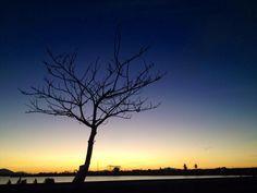 Saat senja tiba di Alue Naga Banda Aceh