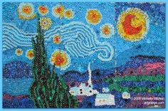 Michelle Stizlein_Starry Night via Bottlecap Little Bottlecap, seen on Art Is Everywhere